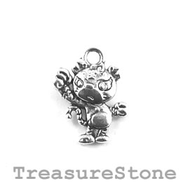 Charm/Pendant, 12x14mm Tiger. Pack of 12.