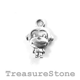 Charm/Pendant, 11x13mm monkey. Pack of 12.