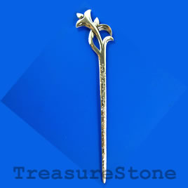 Hair stick, silver colored, 160mm. Sold individually.