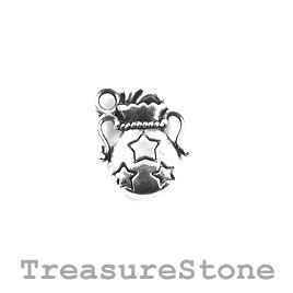 Charm/Pendant, 14mm Aquarius. Pack of 10.