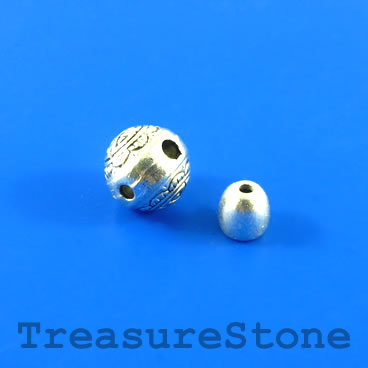 Bead, silver-finished, 10mm Guru bead set. Two sets.