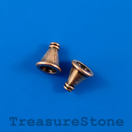 Cone, copper-colored, 10x12mm, nickel free. Pkg of 10.