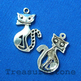 Pendant/charm, silver-finished, 16x22mm cat. Pkg of 8.