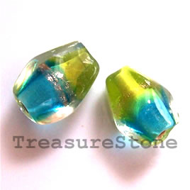 Bead, lampworked glass, 8x11mm. Pkg of 10.