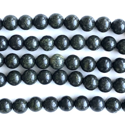 Bead, African green jasper, 8mm round. 15inch, 45pcs