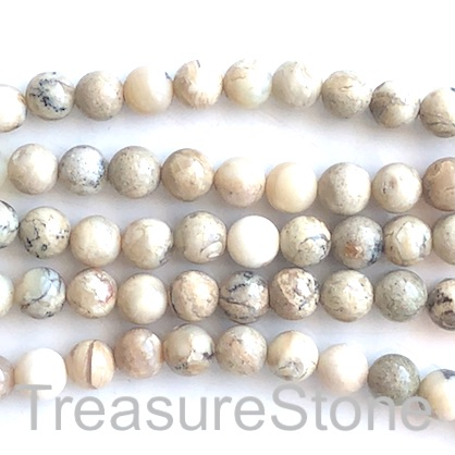 Bead, african opal, Round, 8mm. 15.5 inch, 49pcs