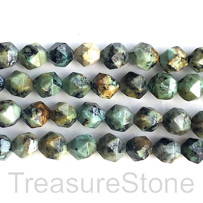 Bead, african turquoise, 8x9mm star cut. 15-inch, 37pcs