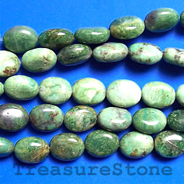 Bead, African Jade, 8x10mm oval. 15.5-inch strand.
