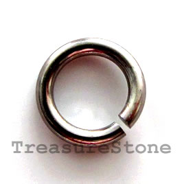 Jumpring,aluminum,gunmetal,15mm smooth round. Sold per pkg of 35