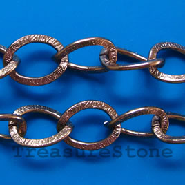 Chain, aluminum, brown, 15x20mm curb - By meter
