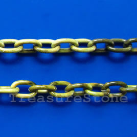 Chain, aluminum, jungle, 6x9mm curb - By meter