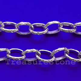 Chain, aluminum, purple, 9x12mm curb - By meter