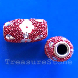 Bead, alloy, 11x22mm. Sold individually.
