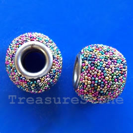 Bead, alloy, 12x14mm. Sold individually.