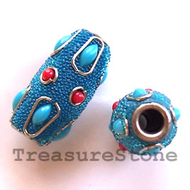Bead, alloy, 13x26mm. Sold individually.