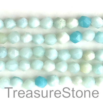 Bead, Amazonite, 7x8mm, faceted nugget. 14.5-inch, 46pcs