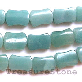 Bead, amazonite, 10x14mm shaped rectangle. 16-inch strand.