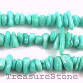 Bead, amazonite, 8 to 18mm stick. 16-inch strand.