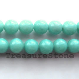 Bead, amazonite, 12mm round. 16-inch strand.