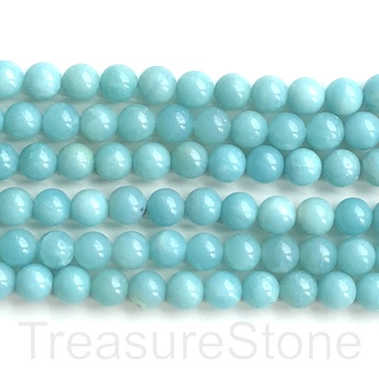 Bead, amazonite, darker, 8mm round. 15-inch, 48pcs