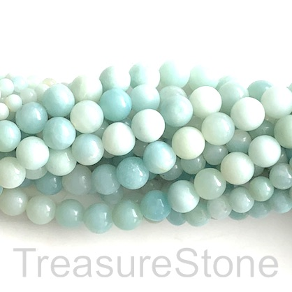 "Bead, amazonite, grade B-, 8mm round. 15.5"", 48pcs"