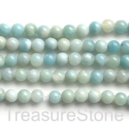 "Bead, amazonite, 8mm round, large hole, 2mm, 14.5"", 48pcs"