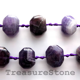 Bead, amethyst, about 15x18mm, nuggets 3, 20pcs