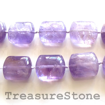 Bead, amethyst, 19x22x11 pillow. 17pcs.