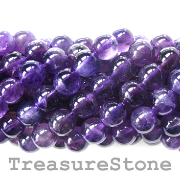 Bead, amethyst, 8mm round, A-grade. 16-inch strand. - Click Image to Close