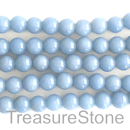Bead, angelite, 8mm round, grade B. 15.5 inch, 49pcs