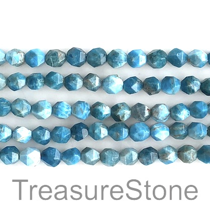 Bead, Apatite, 7x8mm, faceted nugget, star cut. 15-inch, 49pcs