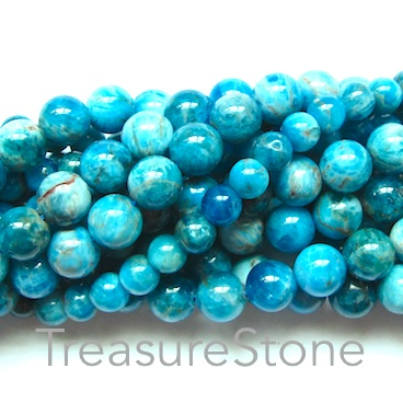 Bead, apatite, 6mm round. 15.5 inch, 66pcs