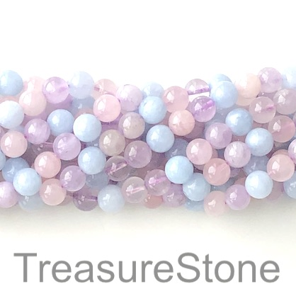 Bead,aquamarine, amethyst,rose quartz, 8mm round.15.5 inch,49pcs