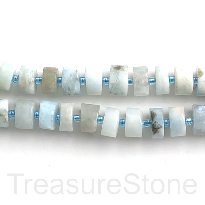 Bead, Aquamarine, about 5x10mm disc, grade C. 15.5-inch, 50pcs