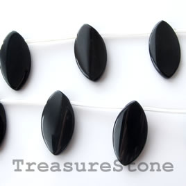 Pendant, black onyx. Grade A. 14x20mm. 14pcs