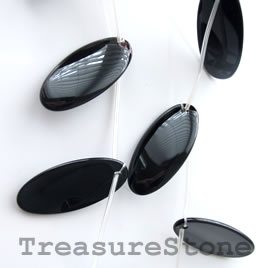 Pendant, black onyx. Grade A. 18x38mm. 10pcs