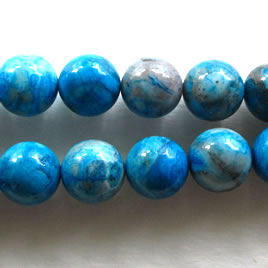 Bead, crazy lace agate (dyed), 14mm round. 15.5 inch.