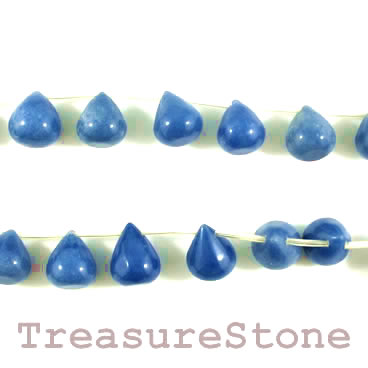 Bead, blue aventurine, 12x15mm teardrop. 20pcs