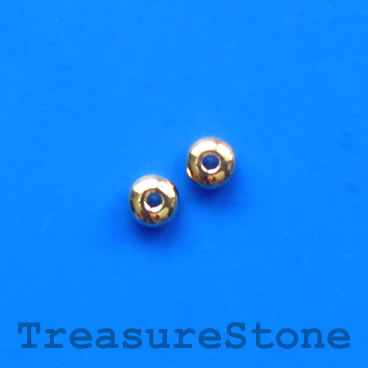 Bead, silver-plated brass, 4x1mm, pkg of 30 pcs