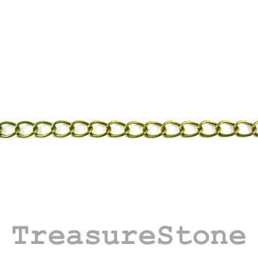 Chain, brass, bronze-finished, 2.5x3.5mm curb. Sold per meter