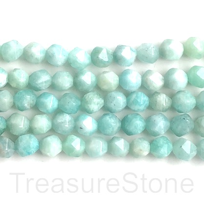 "Bead, brazil Amazonite, 7x8mm, faceted nugget, star cut. 15"", 48"