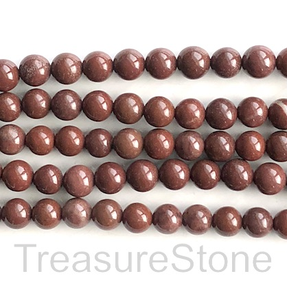 Bead, brown jasper, 8mm round. 15.5 inch, 47pcs