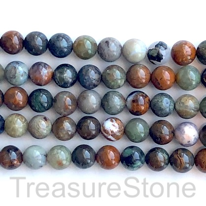 Bead, brown opal, Round, 8mm. 15.5 inch, 49pcs
