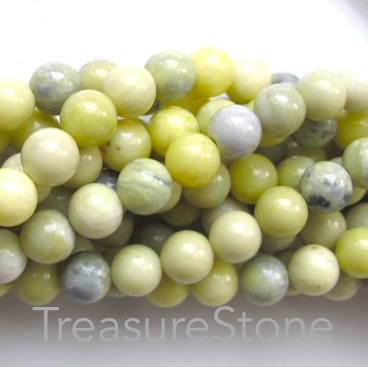 Bead, butter jasper, 6mm round. 15.5 inch, 65pcs