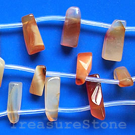 Bead, carnelian, 16mm drop. 16-inch strand.