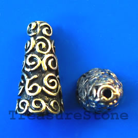 Brass-finished Beads & Cones
