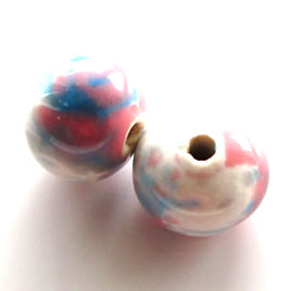 Bead, porcelain, 111x14mm. Pkg of 6.