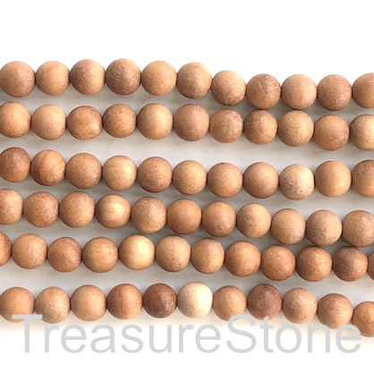 Bead, chinese sandalwood, 10mm round. Pkg of 54pcs.