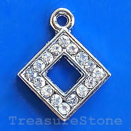Charm/pendant,chrome-finished, 17mm. Sold individually