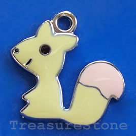 Charm/pendant, chrome-finished, 20mm squirrel.Sold individually.